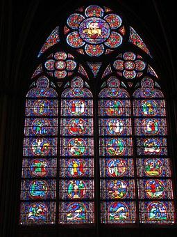 ヨーロッパの窓ガラス